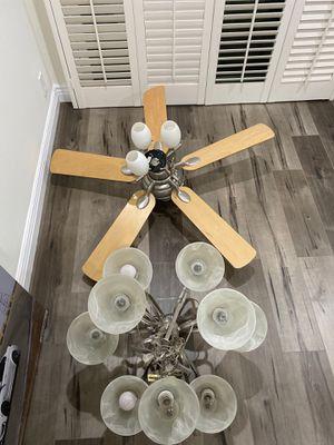 Chandelier & Ceiling Fan for Sale in Los Angeles, CA