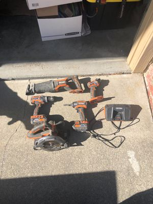 Ridgid 18 volt combo kit. All works very well for Sale in San Mateo, CA