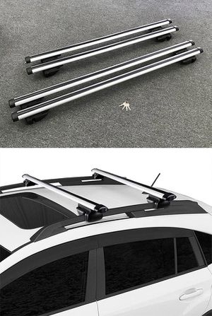 "New 2 Sizes: (48"" for $35), (55"" for $40) Universal Car Cross Bar Top Luggage Roof Rack Cargo Carrier for Sale in Pico Rivera, CA"