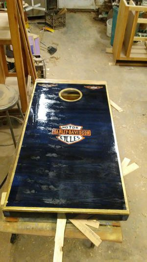 Harley Davidson cornhole boards for Sale in McConnelsville, OH