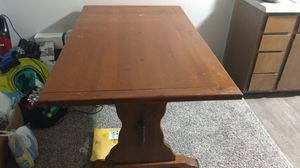 Solid Wood Dining Table. Moving Sale!!! for Sale in Tulsa, OK