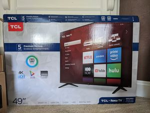 """TCL 49"""" ROKU TV with Mount for Sale in Pittsburgh, PA"""
