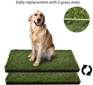 """BRAND NEW HQ4us Dog grass Large Dog Litter Box Toilet (34""""×23""""), 2×Artificial Grass for Dogs, Tray ,Pee pad, Realistic, Bite Resistance Turf, Less St for Sale in Guyton, GA"""
