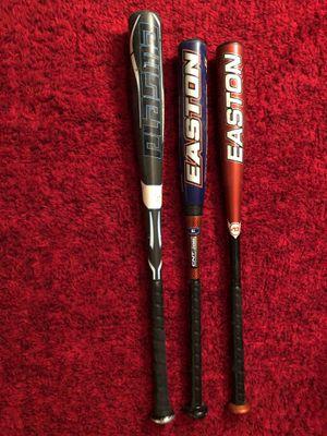3 Aluminum Baseball bats-Easton/Rawlings-FREE DeMarini Baseball bag!! for Sale in Chelmsford, MA