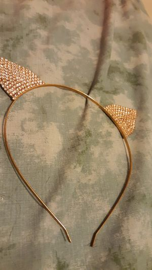 Diamond Studded Cat Ears head band for Sale in Chicago, IL
