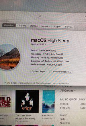 "Apple iMac 27"" Mid 2010 for Sale in Aspen Hill, MD"