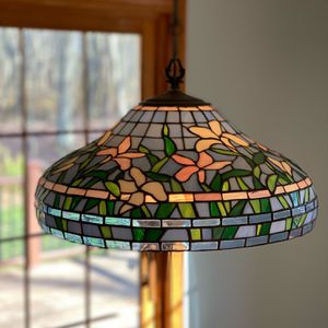 Stained Glass Hanging Light Fixture for Sale in Glastonbury, CT