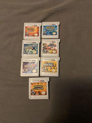 3ds games!! Pokemon! Smash Bros!! for Sale in Peoria, AZ