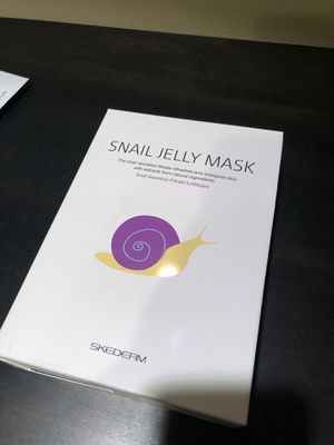 SKEDERM Snail Jelly Face Mask Sheet with Snail Secretion Filtrate 5,000ppm for Deep Moisturizing, Pack of 10, BRAND NEW IN BOX for Sale in San Francisco, CA