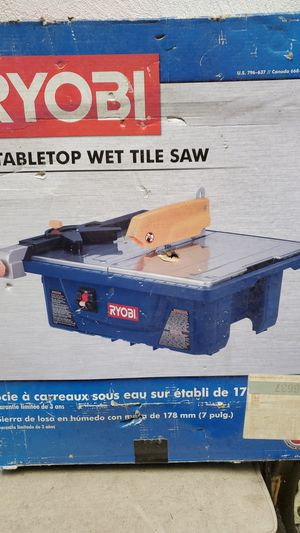 Ryobi wet tile saw for Sale in Los Angeles, CA