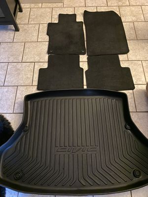 HONDA CIVIC BLACK FLOOR MATS AND CARGO TRAY, FITS 2013-2017 ONLY for Sale in Garden Grove, CA