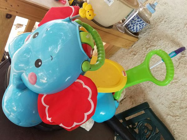 Bounce and ride push toy