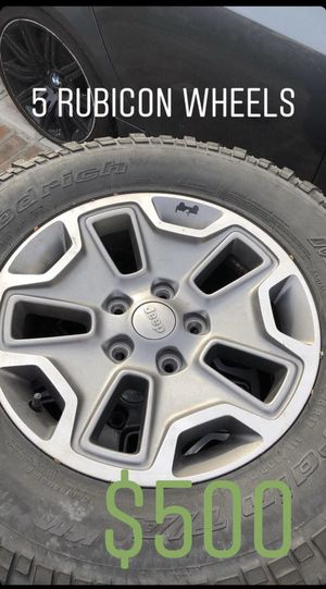 Jeep Wrangler Rubicon 17 inch wheels for Sale in South Gate, CA