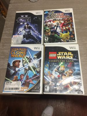 Wii super smash bros and 3 Star Wars games for Sale in Torrance, CA