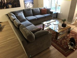 9x9 three piece sectional couch sofa for Sale in Portland, OR