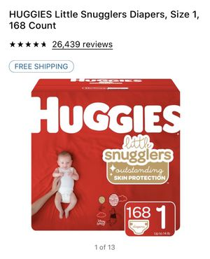Huggies little snugglers size 1 diapers 168 ct for Sale in Chula Vista, CA