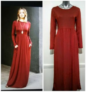 Cranberry Boho / Maxi sleeved Winter / Fall dress L & XL for Sale in Whittier, CA