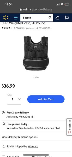 SPRI weighted vest 20 pounds for Sale in San Leandro, CA