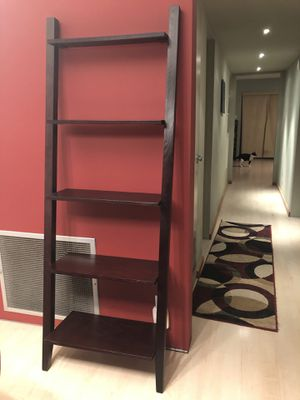 Espresso Ladder Bookcase for Sale in Phoenix, AZ