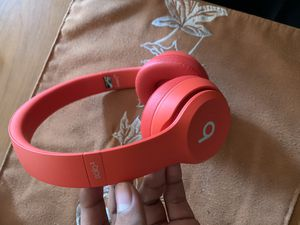 Beats solo wireless 3 product red headphones for Sale in Menlo Park, CA