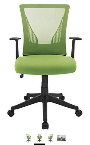Brenton Studio Brenton Studio Radley Mesh/Fabric Mid-Back Task Chair, Green/Blackened for Sale in Fairfax, VA