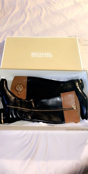 Michael Kors Black Leather Boots for Sale in Long Beach, CA