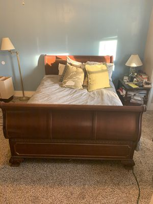 Sleigh bed frame for Sale in Seneca Falls, NY