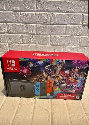 BNIB Nintendo Switch With Mario Cart and 3 months Nintendo Switch Online Membership for Sale in Rancho Cucamonga, CA