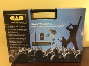 CAD AUDIO Stage Select EIM. Stereo Monitor In Ear System for Sale in Chicago, IL