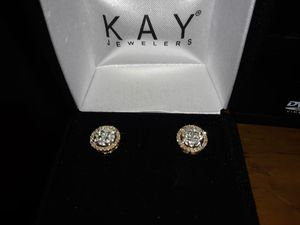 $1,300 10k gold n diamond earrings from Kay for Sale in Buffalo, NY