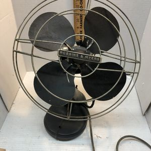 Vintage Robbins and Myers 2 Speed Metal Fan (Not Running) for Sale in Culpeper, VA