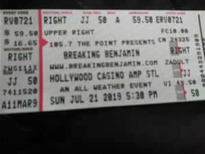 Breaking Benjamin and Chevelle tickets for Sale in Alton, IL