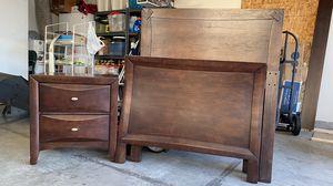 Bed Set (2 Twin Bed Frames, 2 Nightstands, 1 Dresser) Dark Brown for Sale in Vancouver, WA