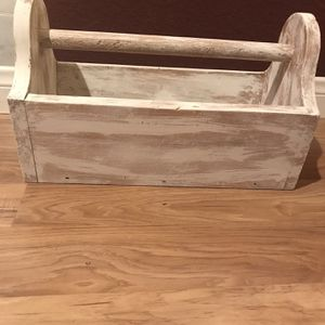 Farmhouse Style Toolbox All Wood Handle Can Come Off for Sale in Bakersfield, CA