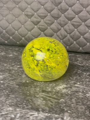 Vintage Paperweight Yellow/Clear for Sale in Brandon, MS