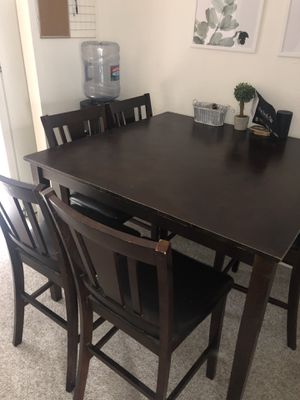 Espresso Brown bar height table and chairs for Sale in San Diego, CA