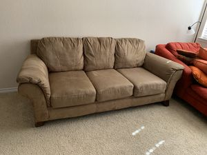 Brown 3 seater couch/ sofa for Sale in Lewisville, TX
