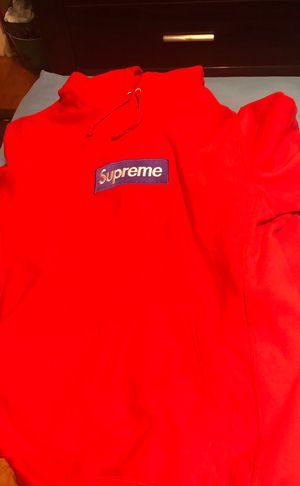 Supreme red box logo hoodie (FW18) for Sale in Belleair, FL