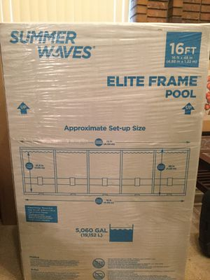 BRAND NEW ON HAND Summer Waves 16ft Elite Frame Pool for Sale in Sandy, UT