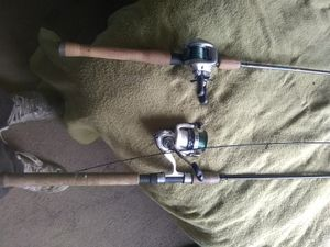 St criox set one is a 10.5 noodle rod and the other is a 7 foot jogging rod for Sale in McKeesport, PA
