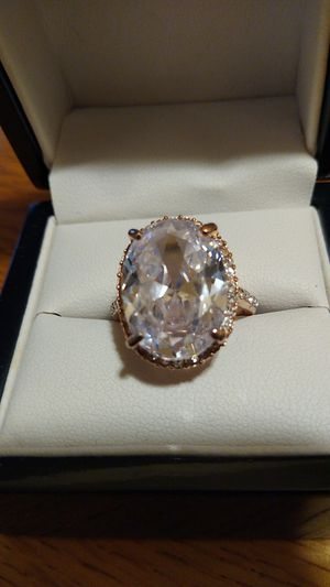 10ct NSCD ring set in Rose Gold over 925 Silver for Sale in River Rouge, MI