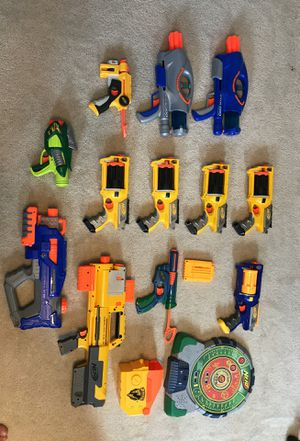NERF guns and electronic target game for Sale in Concord, NC