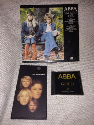 ABBA set. Greatest hits record, greatest hits CD, & a 4 CD book set ABBA thank you for the music for Sale for sale  Allen Park, MI
