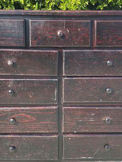 9 Drawe Pinewood - Rials Dresser (Cherry/Black) for Sale in Inglewood,  CA