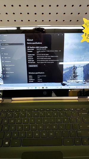 HP Pavillion x360 w/ Intel I7 for Sale in Lufkin, TX