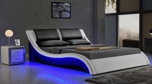 King 699$ Full 599$ Platform upholstered Faux Leather bed Italian Premium Wave-Like Shape ModernDesign. for Sale in Plantation, FL