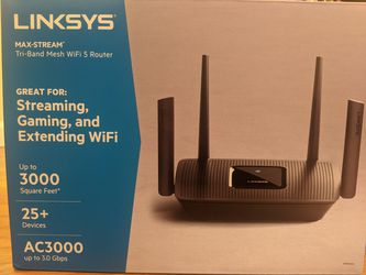 Linksys WiFi 5 Router AC3000 MR9000 3.0Gbps Quad-Core CPU Max-Stream for Sale in San Diego,  CA