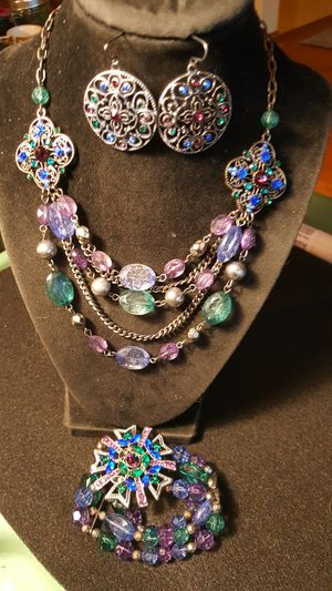 Gemstone necklace, earrings and bracelet. See photos. for Sale in Meriden, CT