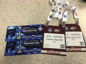 2 ACC CHAMPIONSHIP GAME TICKETS for Sale in Angier, NC