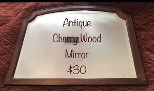 Antique Mirror 28.5 x 22.5 cherry wood for Sale in Durham, NC